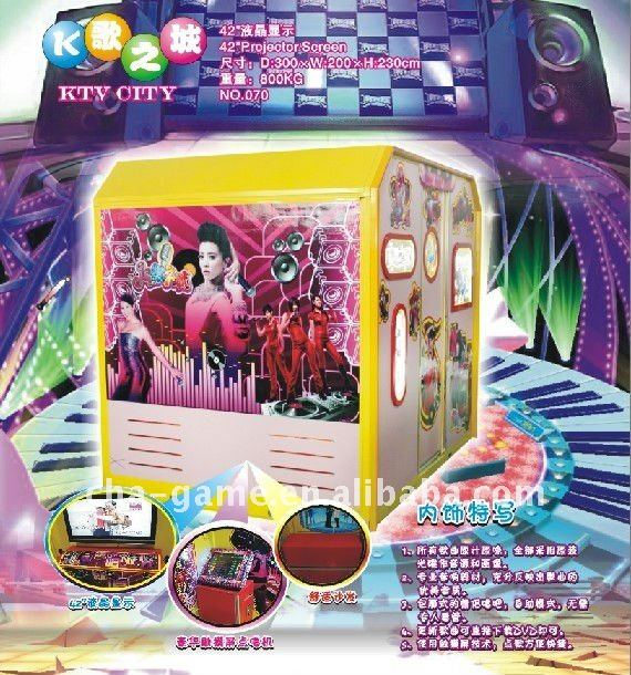 Coin operated karaoke game machine,arcade game machine