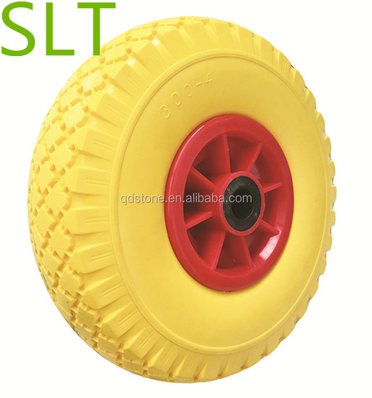 10 inch 3.00-4 pu foam wheels for hand truck wheels quality factory with different weight pu foam wheels