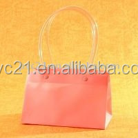 Fashionable PVC Ladies Toiletry Tote Bags with Handle