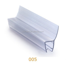 Co-extruded sliding rubber waterstop bar for glass shower door