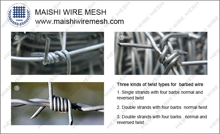 SINGLE AND DOUBLE STRAND BARBED WIRE