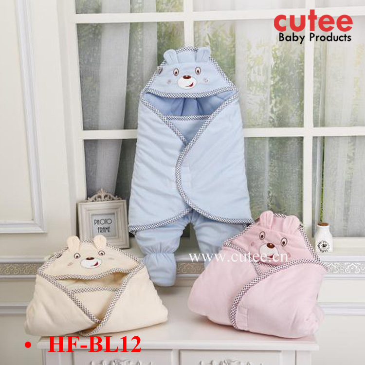 Cheap Lovely Soft Warm Animal Infant Baby Hooded Swaddle Sleeping Bag Wholesale