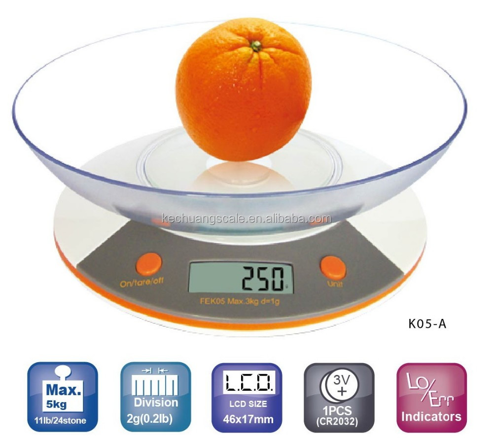 future life household scale, family common use fruit food scales, electronic kitchen scale 5 Kg