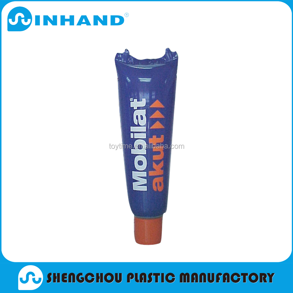 Factory EN71-1-2-3, ASTM Customized Fashion blue PVC Inflatable toothpaste