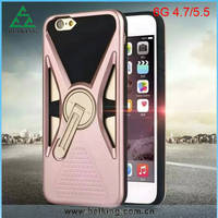 Fast Delivery for iPhone 6 TPU Stand Case 360 Degree Rotating/for Mobile Phone Armor Protective Stand Case