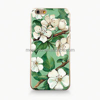 Various color drawing printing soft gel rubber TPU case for iPhone 6 plus