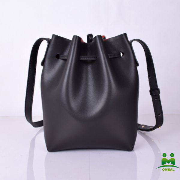 high quality black ladies nappa <strong>leather</strong> drawstring bucket bags brand name shoulder bags C2-282-<strong>1</strong> dropship fast delivery