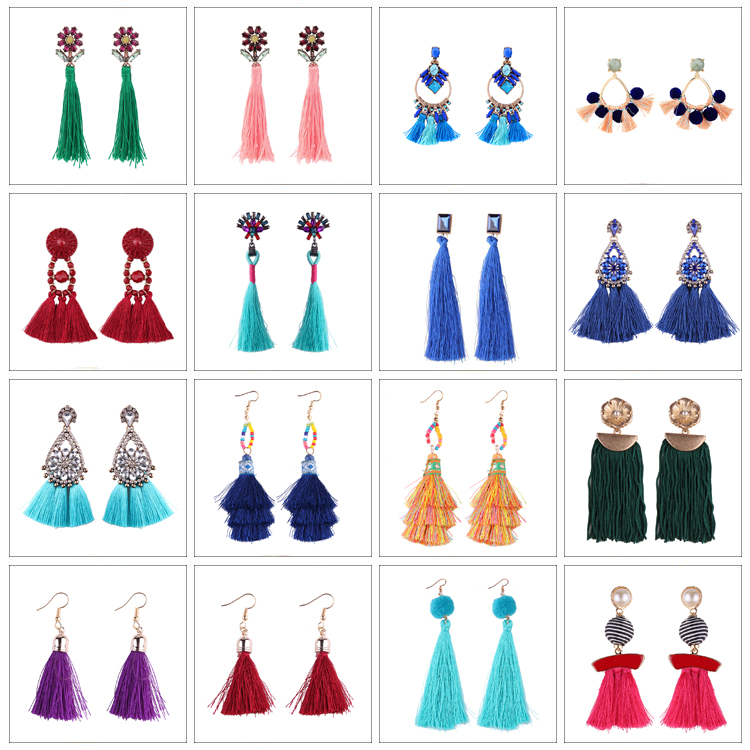 Fashionable Jewelry 2017 Latest Earring Designs Elegant Women Tassel Earrings