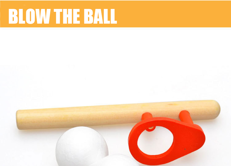 Blow ball game classic children's early childhood fun toy puzzle wooden sports toys for children hobbies