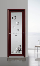 Interior Mordern Fashion Design Aluminum Frosted Shower Glass Door