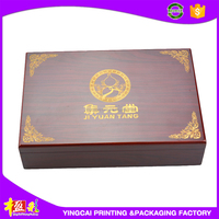 Factory Outlet Folding Timber Wooden box for home dector CY-SY217