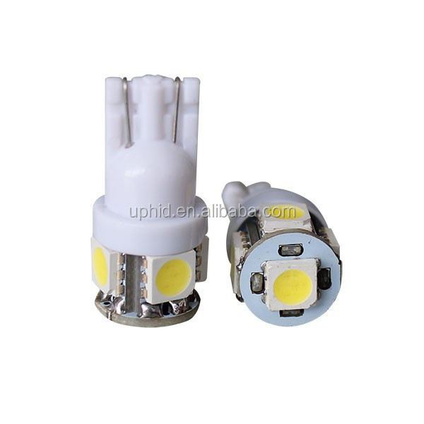 Top seller High lumens Epistar DC12/24v 168 194 921 W5W T10 5050 5smd led auto bulb Red/White/Yellow factory wholesale