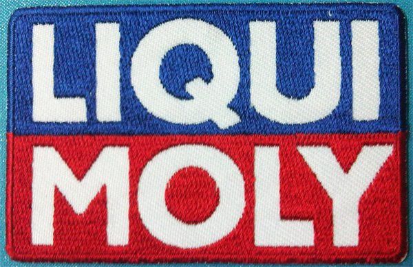 LIQUI MOLY logo Sign Patches Embroidered Iron on fabric appliques