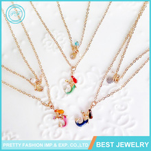 Wholesale New Designs Necklace Mermaid Pearl Shell Starfish Pendant Necklace