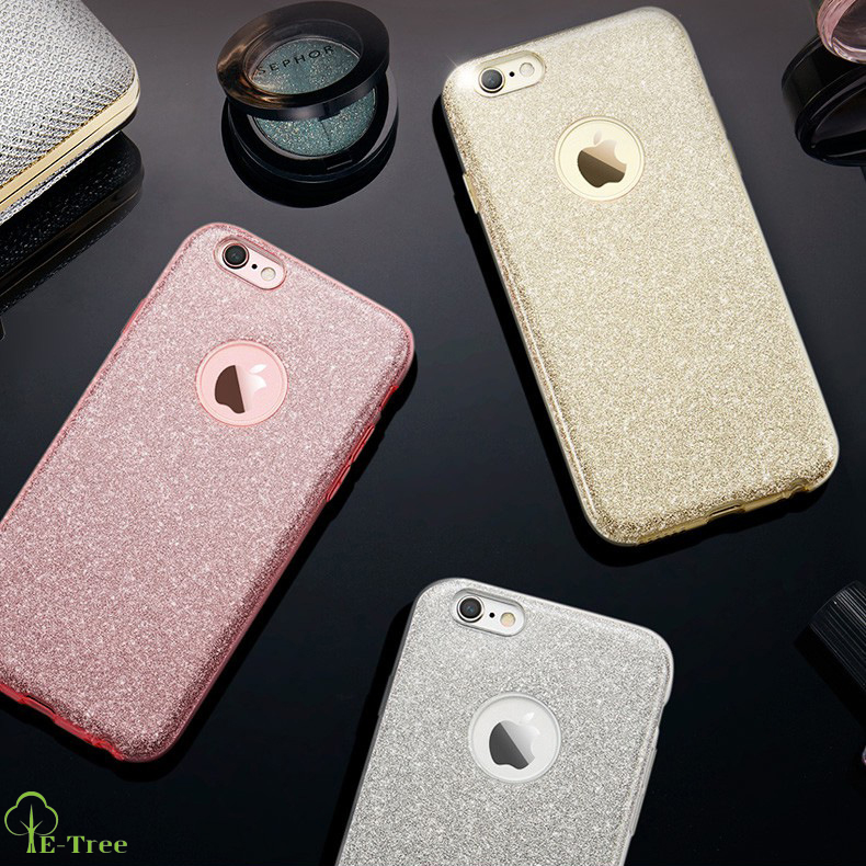 Drop Proof 3 IN 1 Crystal Bling Bling Glitter Case For iPhone 7 TPU