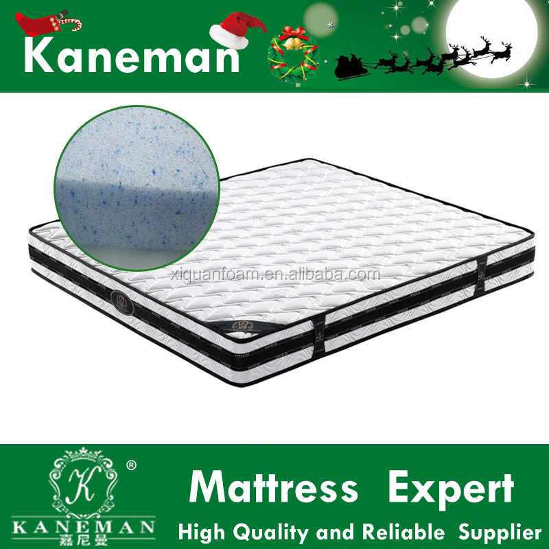 Super king home used cool gel memory foam mattress bed sets
