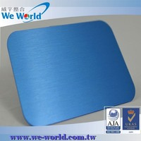 High value brushed finish aluminum anodizing services with various colors
