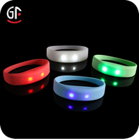 2015 Hot China Wholesale Direct Factory Cheap Custom Glow In The Dark Colorful Promotional Silicone Rubber Led Wristband