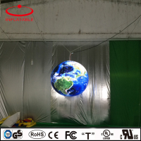inflatable LED light earth model balloon for decoration