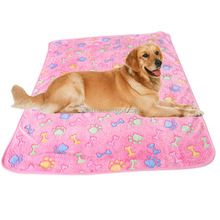 Warm Pet Bed Mat Small Cat Dog Puppy Coral fleece Soft Blanket Cushion Paw Print