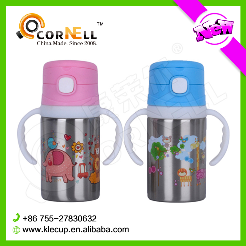 Hot High Grade 400ml Double Wall 18 8 Stainless Steel Thermos Vacuum Flask For Kids