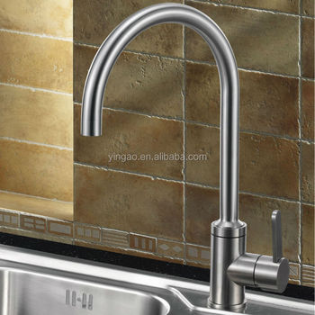 Commercial 304 stainless steel single handle Pull Out UPC kitchen faucet