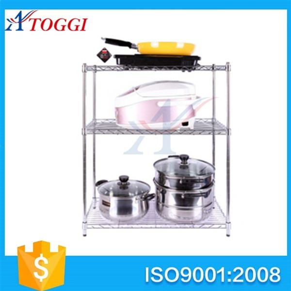 kitchen store and display small steel 2-tier wire shelf