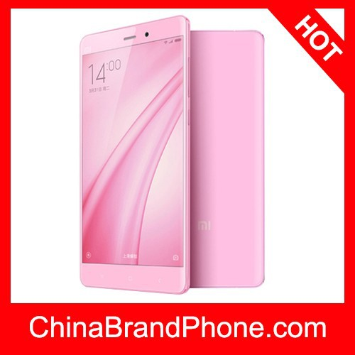 Xiaomi Mi Note pink version 5.7 inch MIUI 6 Smart Mobile Phone