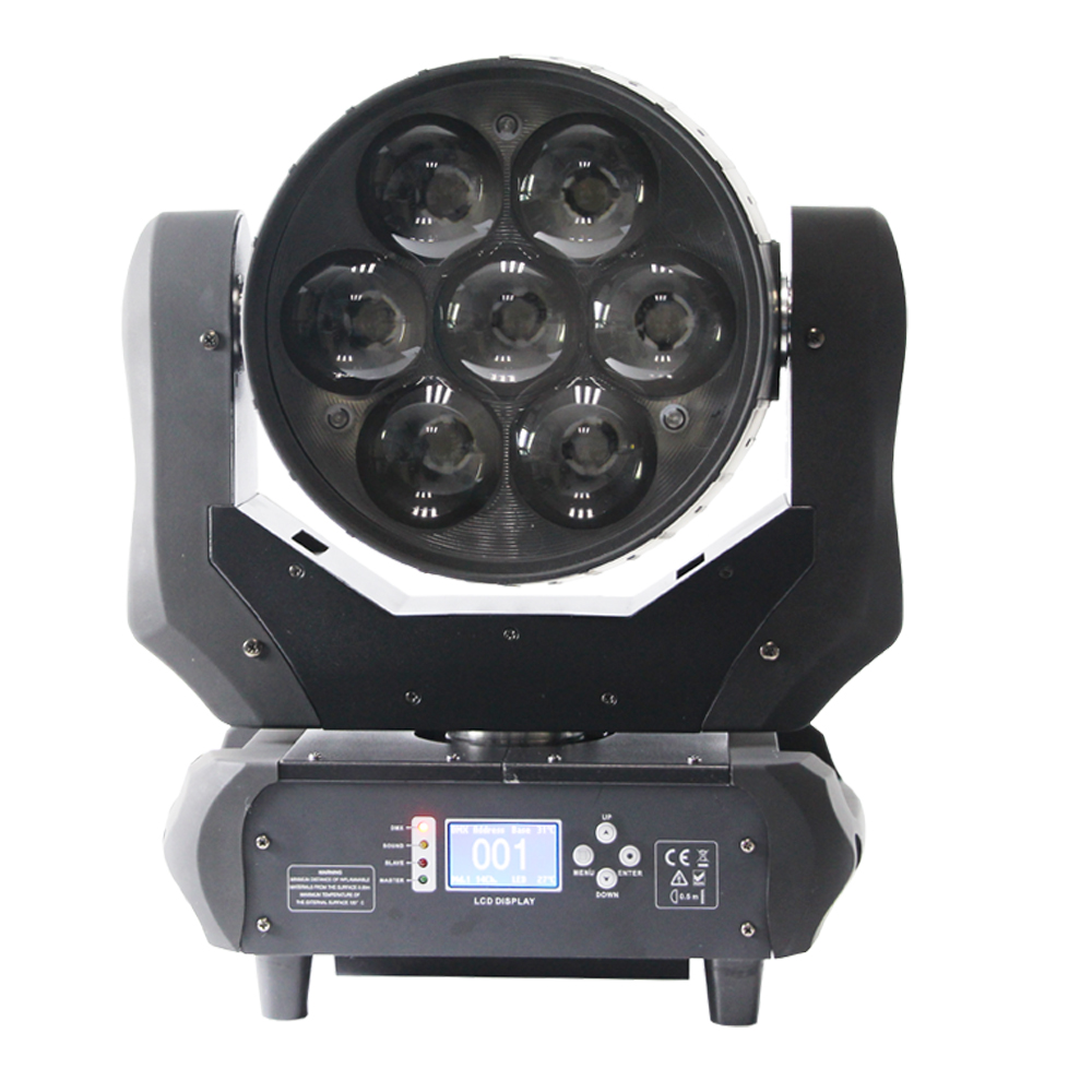 New Coming Stage Party Night Clublight Brightness 7*40W 4In1 Rgbw <strong>Led</strong> Moving Head Wash Zoom Dj Light