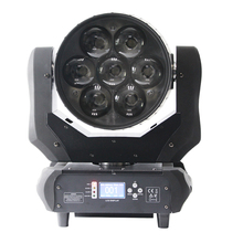 New Coming Stage Party Night Clublight Brightness 7*40W 4In1 Rgbw Led Moving Head Wash Zoom Dj Light
