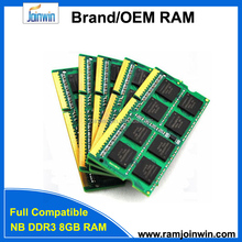 FCC CE RoHS Tested CL11 512mb*8/16c ddr3 8gb notebook ram memory module