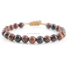 European Beaded Bracelet Men 8mm Natural Stone Beads Bracelet For Men Handmade Jewelry Father's Day Gift