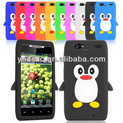 PENGUIN SILICONE SKIN Mobile Phone Case COVER FOR MOTOROLA DROID RAZR XT910