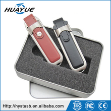 Colorful Business 16GB 32GB Pen Drive Gift Promotion 2.0 Leather USB with Tin Box
