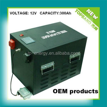 lithium ion battery 12V300AH