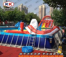 Backyard frame pool water park Inflatable challenge water park construction