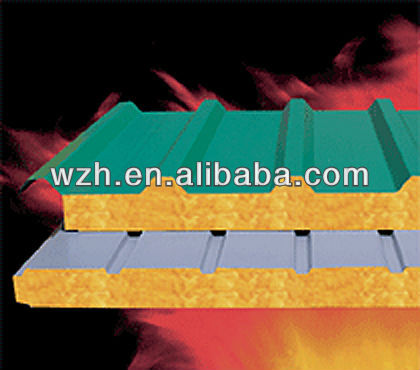 Fire Rate 50mm Mineral wool Sandwich Roof Panel
