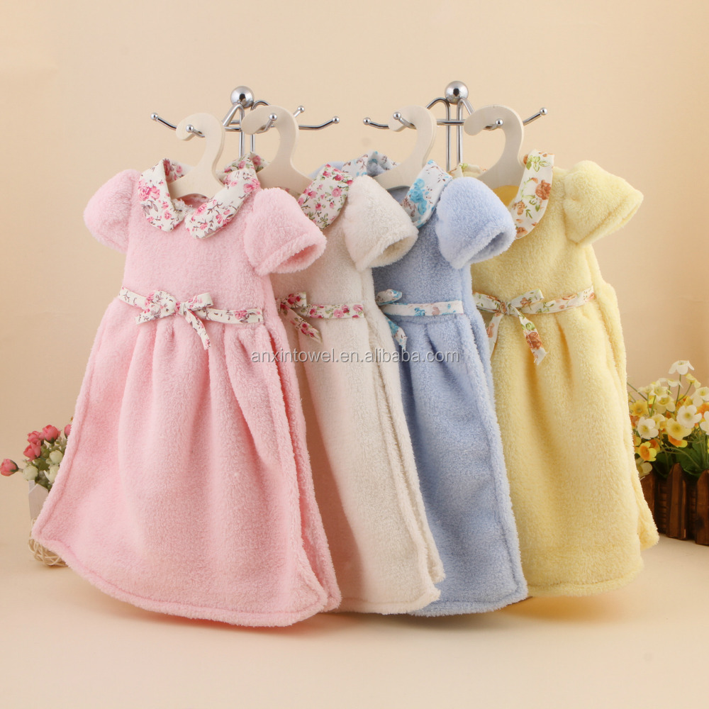 cute dress hand towel/kitchen towels bulk