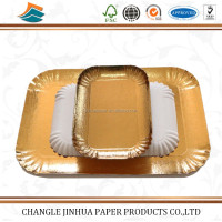 Disposable food grade aluminium foil tray/paper plate with high quality