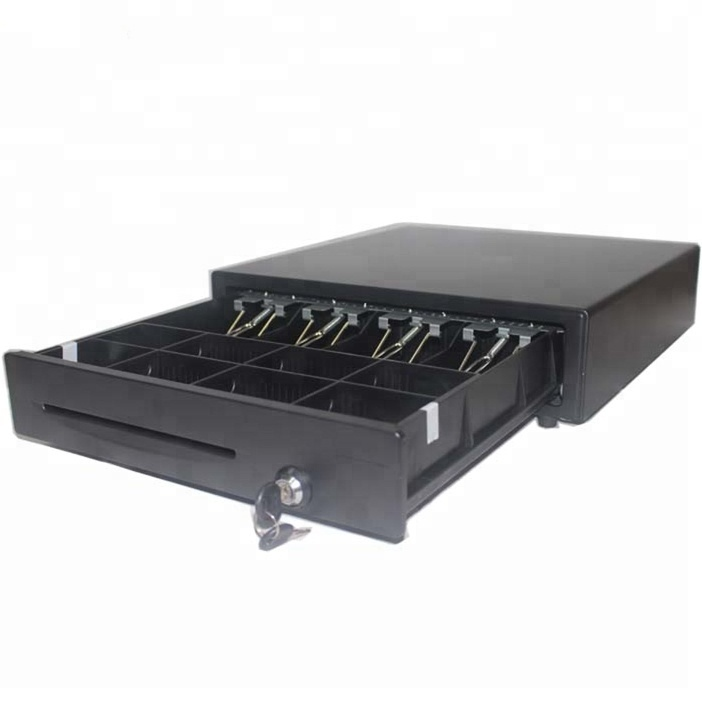 Metal electronic with plastic cabinet and RJ11 interface pos billing machine cash drawer