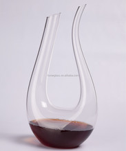 Advance customized size borosilicate glass handmade pyrex art hand blown glass wine decanter