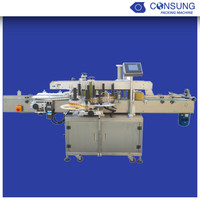 Automatic up down double sides self adhesive label sticking machine