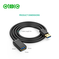 Type A Male to Male Cable USB 3.0 A to A Cable Cord for Data Transfer Hard Drive Enclosures, Printers, Modems, Cameras (3FT)