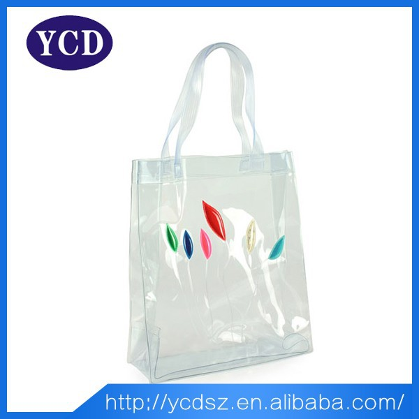 2015 Waterproof Clear Shopping Bag Plastic Bag For Women ...