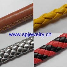 braided leather cord, many shapes and colors for choice