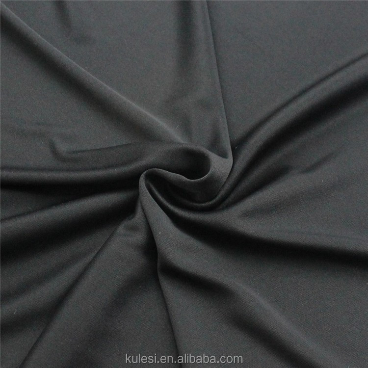Shaoxin 30D soft polyester fabric DTY 65GSM microfiber thinner fine knitted for garment material and lining