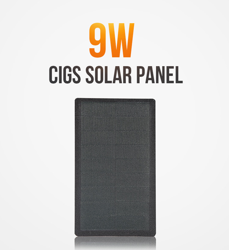 2019 hot sale mini  9w 9v flexible solar panel  with cigs solar Cell