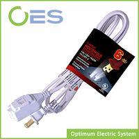 Factory Direct Supply American UL Standard Household Electrical Extension Cord with No-rewirable Plug
