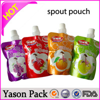 YASON china plastic packaging printing doypack with spout for juice & water package resealable autoclave sterilization plastic s