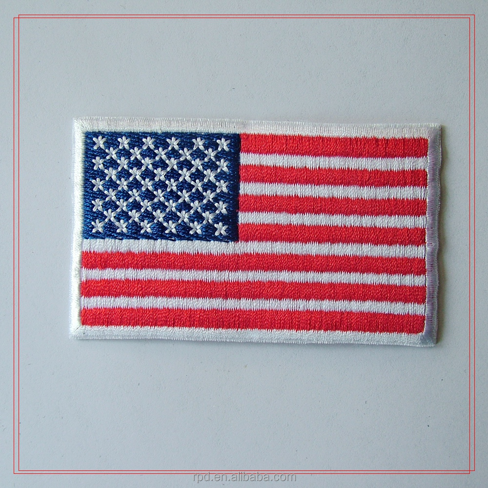 EXW Price USA American Flag Embroidered Patch